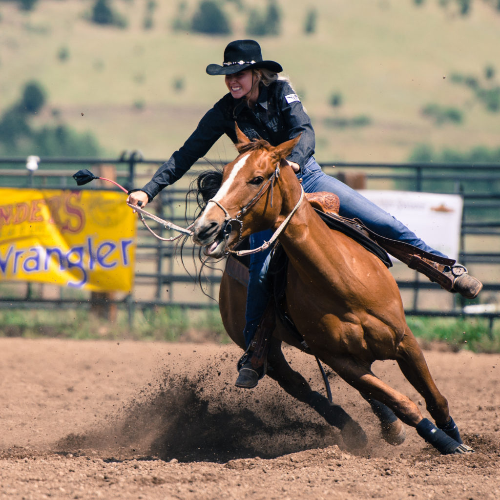 Top of the World Rodeo Barrel Racing